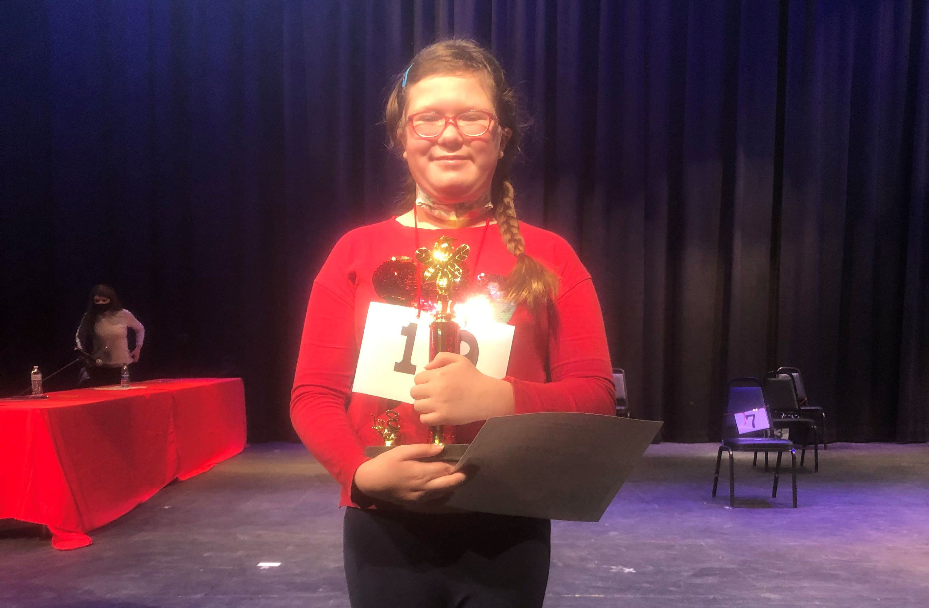 3rd Place Spelling Bee Winner Anna Cooney